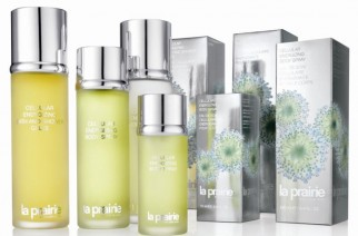 Cellular Energizing cosmetics by La Prairie –  Body Lotion, Bath and Shower Gelee, and Body Spray.