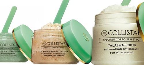 Novelties from Collistar. Three body Talasso-scrubs.